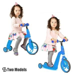 Vokul VK-1281F LED light 3 Wheel Mini Kick Scooter with Adjustable Height