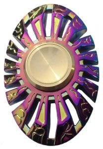 SWINCHO Oval Colorful Metal Hand Spinner for Children Adult