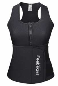 FeelinGirl Neoprene Sauna Suit Tank Top Vest with Adjustable Waist Trimmer Belt
