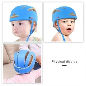 ICOCO Baby Helmet Soft Cotton Adjustable Infant Safety