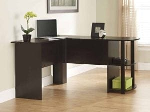 Ameriwood Home Dakota L-Shaped Desk with Bookshelves