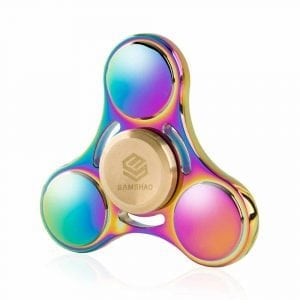 SAMSHAO 2018 Newest Rainbow Colorful Tri-Spinner Fidget Spinner