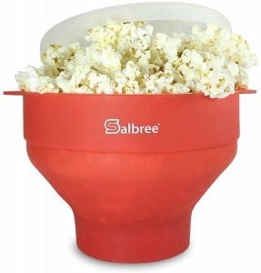 Salbree Microwave Popcorn Popper with Lid