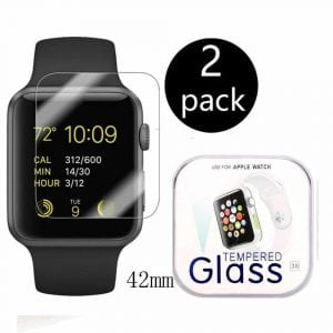 2-Pack Apple Watch 42mm Mart Watch Screen Protector
