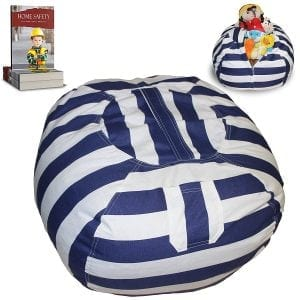Stuffed Animal Storage Bean Bag Chair, Large Size
