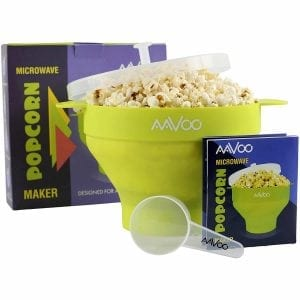 Microwave Popcorn Popper with Lid and Handles