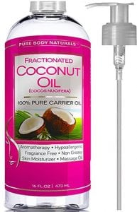Pure Body Naturals Premium Fractionated Fine Coconut Oil