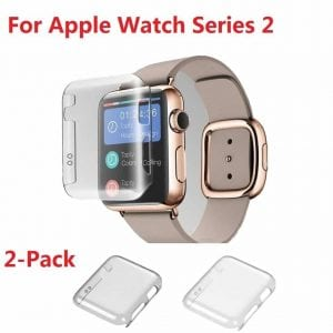 Apple Watch Series 2 42mm Monoy 2-Pack Hard Screen Protector