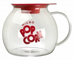 Ecolution Kitchen Extra Glass Microwave Popcorn Maker