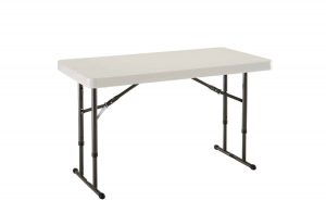 Lifetime 80161 Commercial Adjustable Height Folding Table