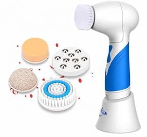 SkinFun IPX7 Waterproof Facial Cleansing Brush for Skin and Face