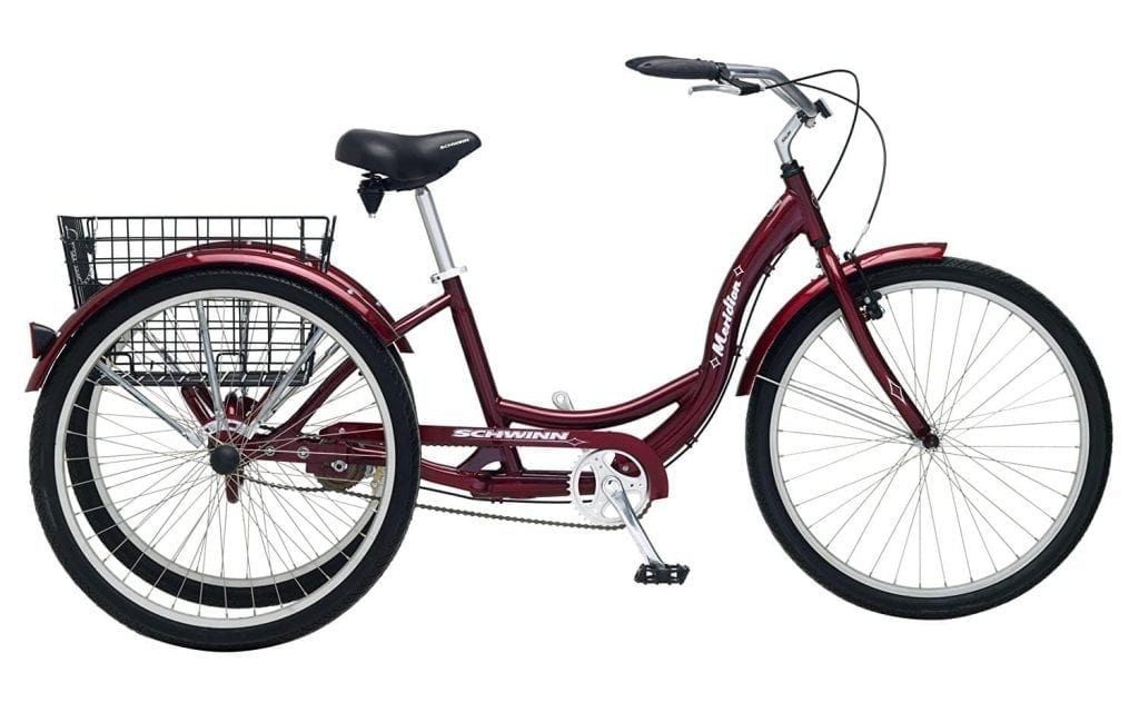 Schwinn Meridian Adult Tricycle 26-Inch (Black Cherry)