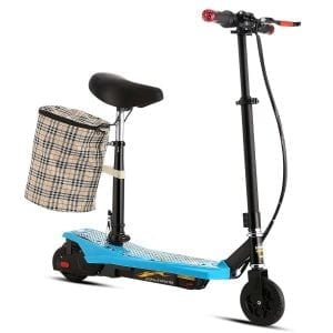 Ancheer S-E008 Mini Electric Scooter with Seat for Adults and ABS