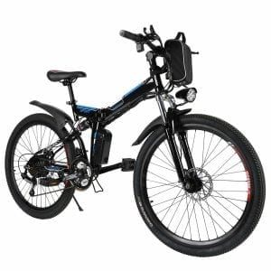 Eshion Folding Electric Mountain Bike, Premium Full Suspension