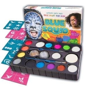 Blue Squid Face Paint Kit