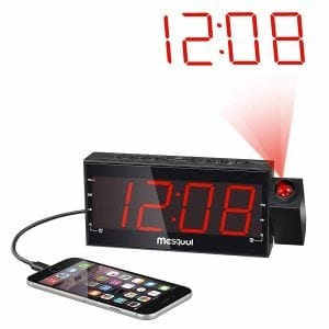 Mesqool Digital Dual Alarm FM Dimmable Projection Clock