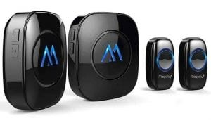 Magicfly Portable Wireless Doorbell, 50 Chime, 1000ft Range