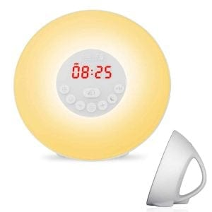 BeautyFlower Sunrise Simulation Wake-Up Light Alarm Clock