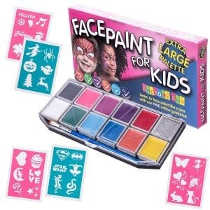 Face Paint Kit with 30 Stencils for Kids