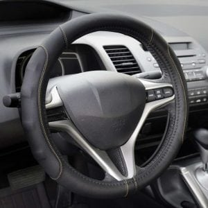 GripDrive Pro Synthetic Leather Auto Car Steering Wheel Cover