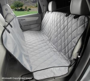 4Knines Luxury -Dog Seat Cover With Hammock for Cars, Trucks and SUVs
