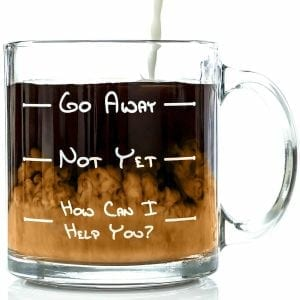 Got Me Tipsy Go Away Funny Glass Coffee Mugs