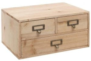Small Natural Wood Office Storage Cabinet