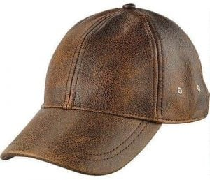 Wilsons Leather Men's Distressed Baseball Leather Cap