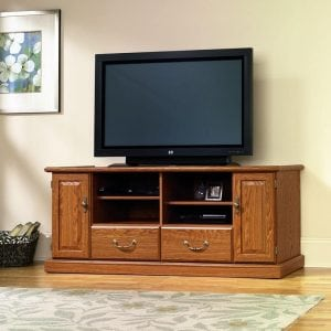 Sauder Orchard Hills Entertainment Credenza, Carolina Oak