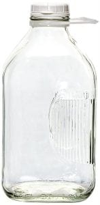 The Dairy Shoppe Heavy Glass Milk Bottle, 2 Qt