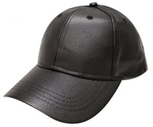 City Hunter Lc100 Plain Leather Cap