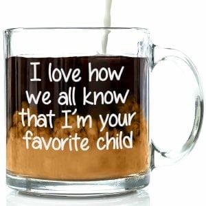 Got Me Tipsy I'm Your Favourite Child Funny Glass Coffee Mug