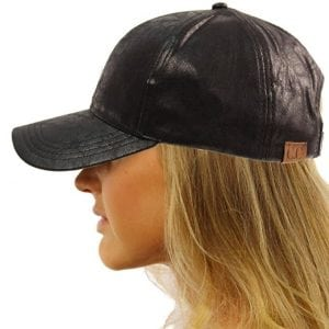 CC Everyday Vintage Distressed Faux Baseball Leather Cap