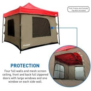 Camping Tent with 4 Walls, PVC Floor