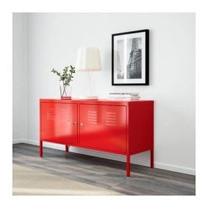 IKEA Red Cabinet Stand Multi-Use Lockable