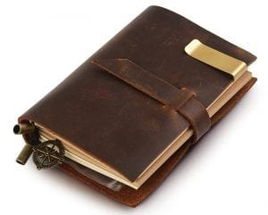 7Felicity Classic Genuine Leather Journal Notebook