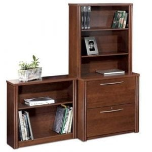 Bestar Office Furniture Embassy Collection Lateral File and Bookcase Set
