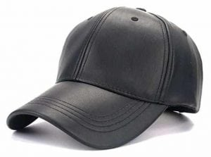 Faux Baseball Leather Cap for Outdoor Sports