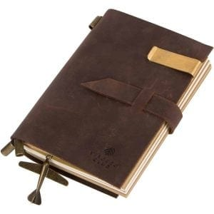 Genuine Leather Travel Journal Refillable Notebooks