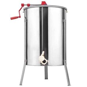 Goplus Stainless Steel 4/8 Frame Large Honey Extractor