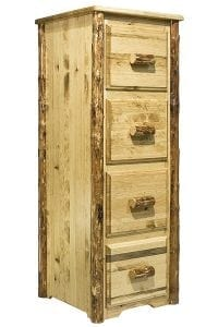 Montana Woodworks Glacier Country Collection 4-Drawer File Cabinet