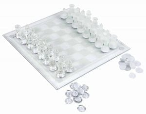 Trademark Games' Elegant Glass Chess & Checker Board Set