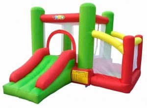 Inflatable Bounce House featuring Slide Ball pit