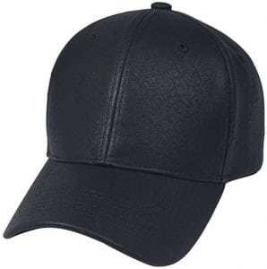 Top Level Brand New Classic PU Leather Plain Baseball Leather Cap