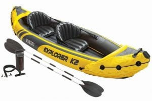 Intex Explorer K2 Kayak, 2, Person Inflatable Kayak Set