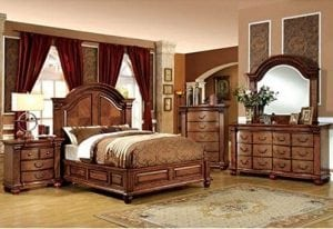 Bellagrand English Style Tobacco Oak Finish King Size Bedroom Set