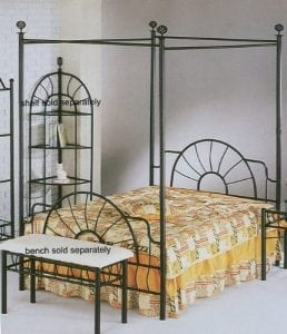 Black sunburst Design Canopy Bed