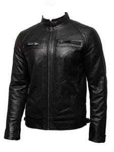 Brandslok Men's Genuine Leather Jacket for Motorcycle