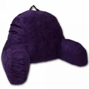 Purple Microsuede Bed Rest Reading Pillow