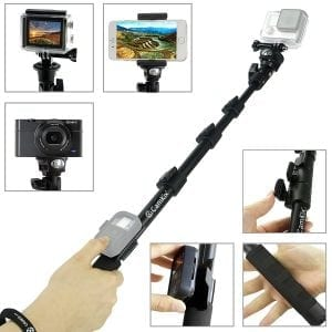 "CamKix Premium Telescopic Pole 16"" - 47"" – GoPro selfie sticks"